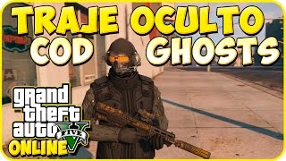 TRUCO GTA 5 ONLINE - TRAJE OCULTO: CALL OF DUTY GHOST - GTA 5 PS4, PC Y XBOX ONE