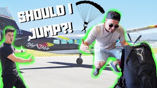 SKYDIVING?! *hardest decision of my life!*