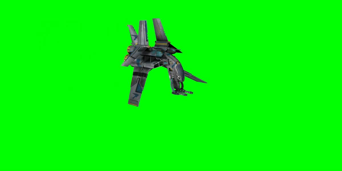 Free Green Screen Animation Space Ship Flyby HD