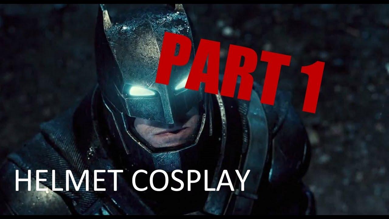 making a batman vs superman helmet tutorial part 1: pepakura eva foam