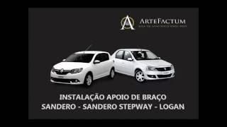 sandero e logan - Instalação Apoio de braço Renault Sandero Sandero Stepway e Logan