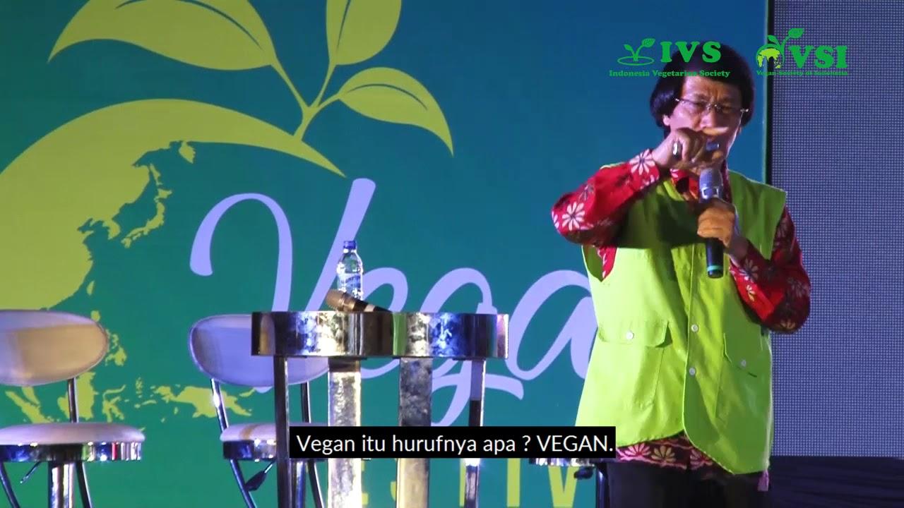 Karena Vegan Kak Seto Mampu Push up 80x, Salto & Koprol Setiap Hari, Vegan Festival Indonesia 2018