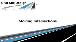 Civil Site Design - Roads - Moving an Intersection