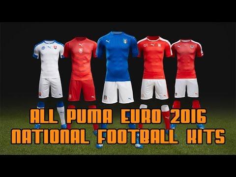 3621be5bfc7 ALL PUMA EURO 2016 NATIONAL FOOTBALL KITS - YouTube