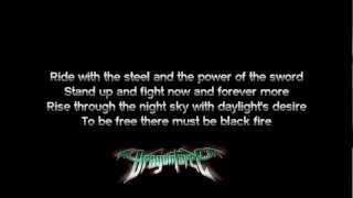 DragonForce - Black Fire | Lyrics on screen | HD