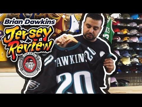 new style 143ae d0336 Brian Dawkins Mitchell & Ness Replica Philadelphia Eagles ...