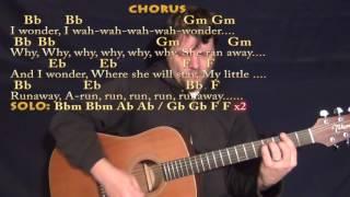 Runaway (Del Shannon) Guitar Chord Chart in Bbm with Chords/Lyrics