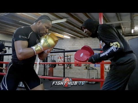 SHAWN PORTER'S FULL MEDIA WORKOUT FOR ERROL SPENCE | SHOWS OFF WAYS HE WILL COUNTER SPENCE
