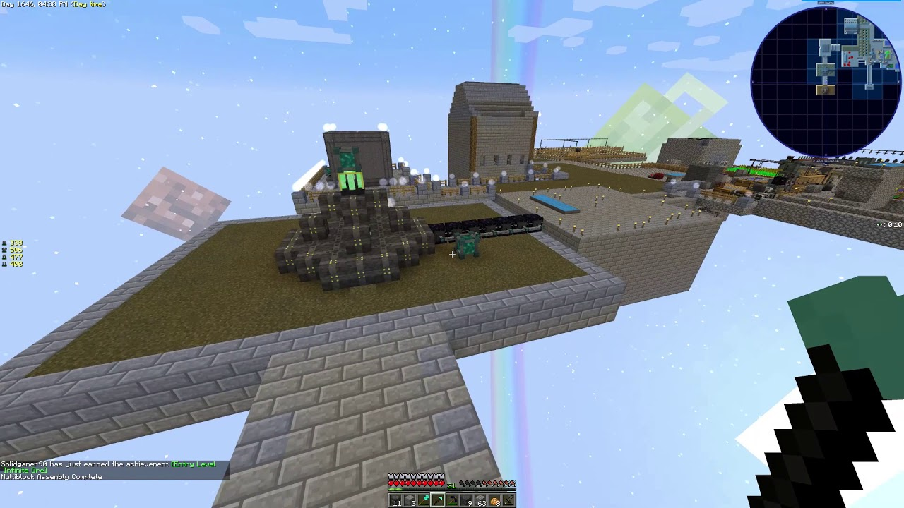 Minecraft Sky Factory 3 Modpack 28 Void Ore Miner Youtube