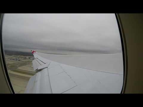 Virgin Atlantic Jersey Girl Boeing 747 400 Take Off From London Gatwick Airport
