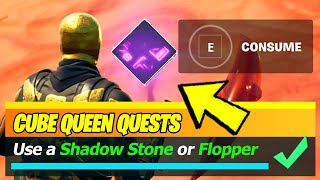 Use a Shadow Stone or Flopper to Phase for 3 seconds near a player (Fortnite)