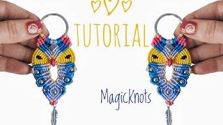 Repeat youtube video Micro Macrame Owl Key Chain 3 ♥DIY♥