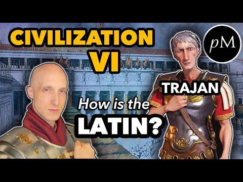 Trajan's Latin: Civilization VI. How is his pronunciation?