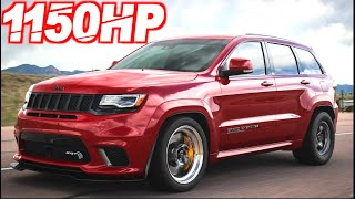 "1150HP Jeep Trackhawk ""The Nitrous Tank"" BRUTAL AWD LAUNCH! (0-60MPH 2.3s)"