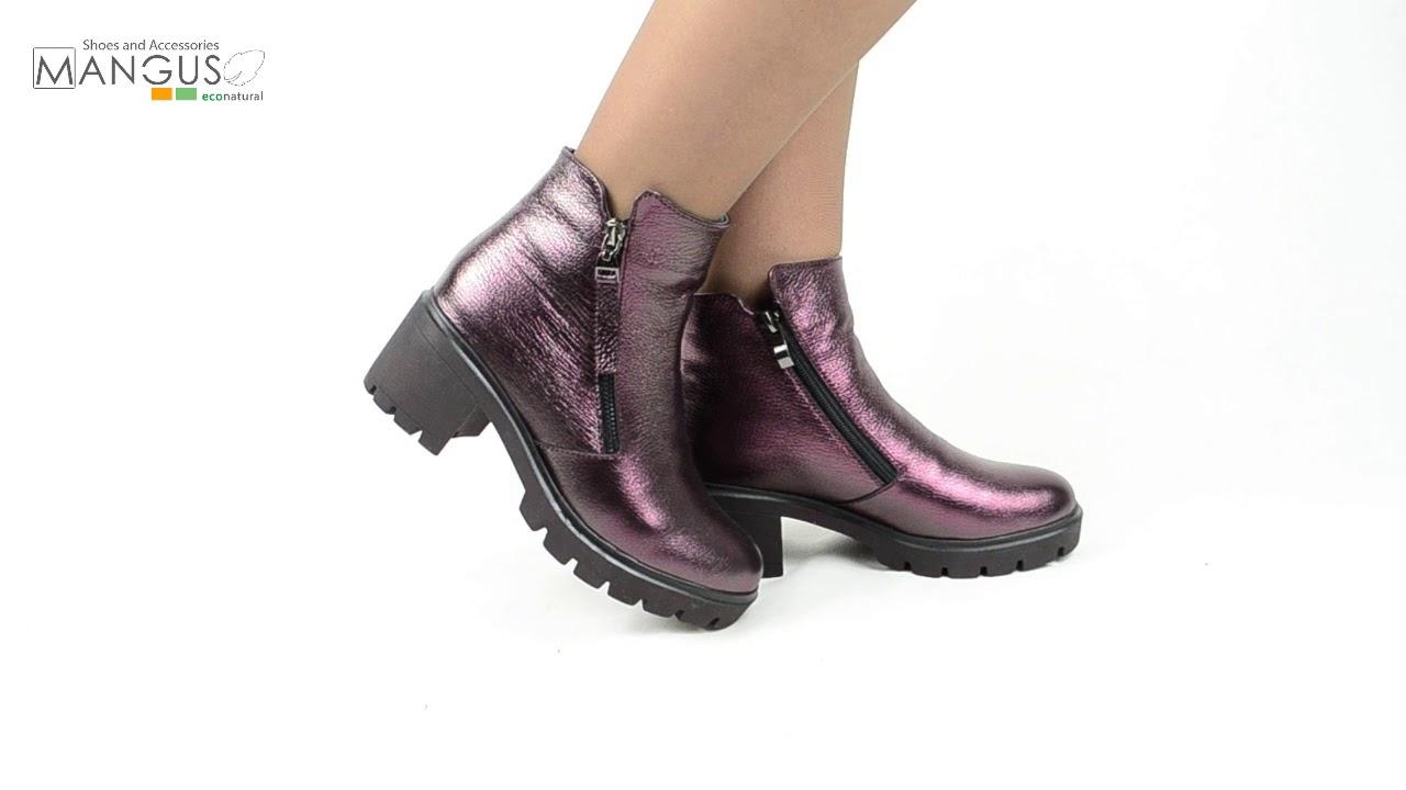 Женские замшевые зимние ботинки Paolo Gianni на толстом каблуке .