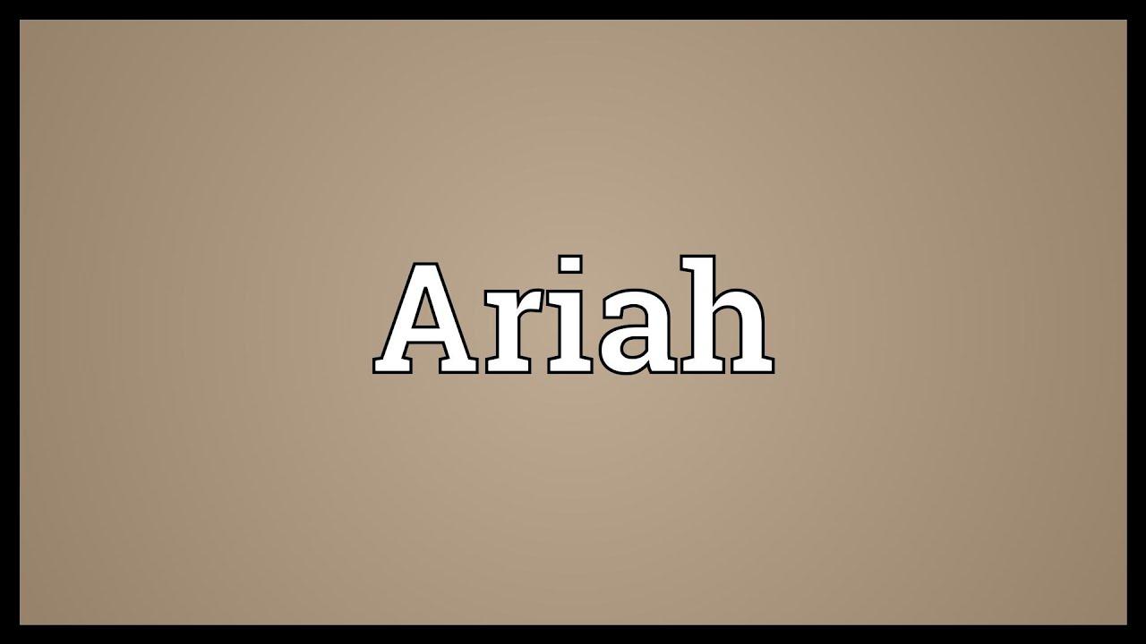Ariah