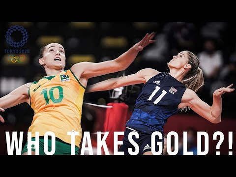 Download USA-BRAZIL REMATCH! This Tokyo 2020 Olympic gold medal volleyball match up looks familiar...