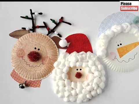 Christmas Paper Plate Crafts For Kids Beautiful Handmade Set Of