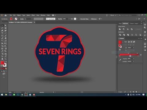 LOGO design tutorial Adobe illustrator। LOGO Design  adobe illustrator cc 2019 thumbnail