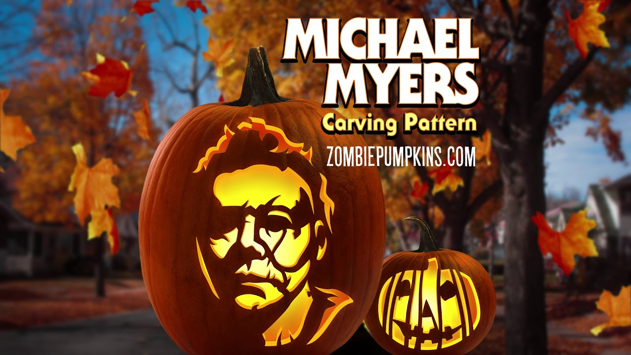 Michael Myers Halloween 2018 Pumpkin Pattern By Zombiepumpkins Com