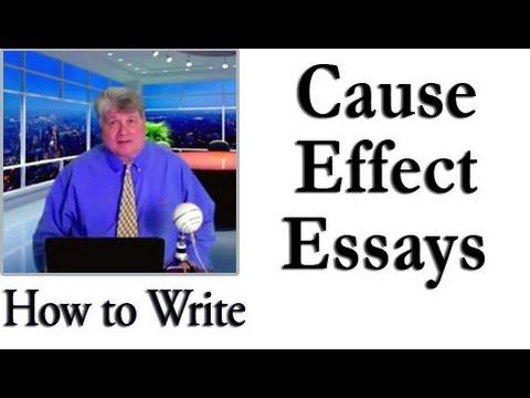 how to write a cause effect essay youtube