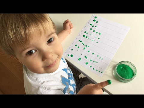 Fingerprint Counting Activity For Preschoolers