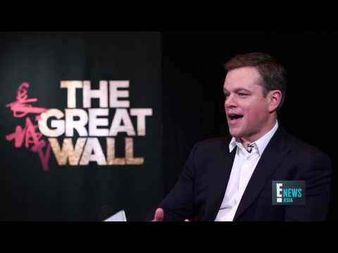 The Great Wall Starring Matt Damon Interview | E! News Asia | E!