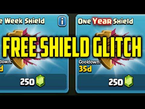 Clash Of Clans Glitch 'Free Shield' | Invisible Shield Glitch