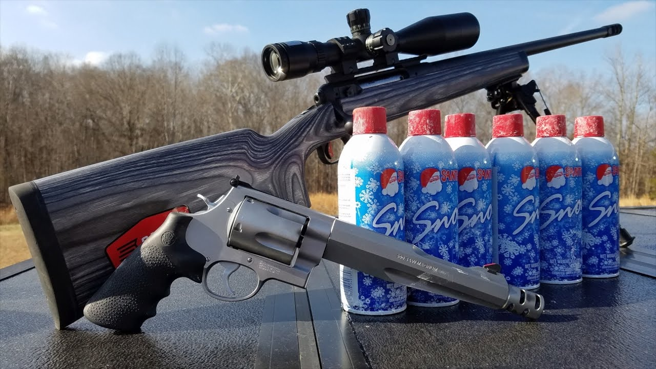 HOW MANY CANS OF SNOW WILL A 500 S&W AND 338 LAPUA MAG GO THROUGH?