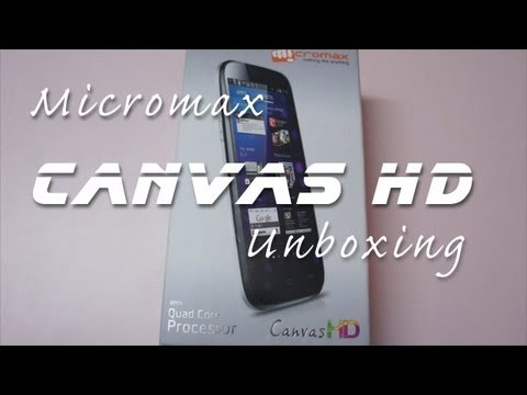 Micromax Canvas HD A116 Quad Core Android Phone Unboxing & Overview