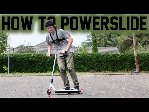 HOW TO POWER-SLIDE ON A SCOOTER!
