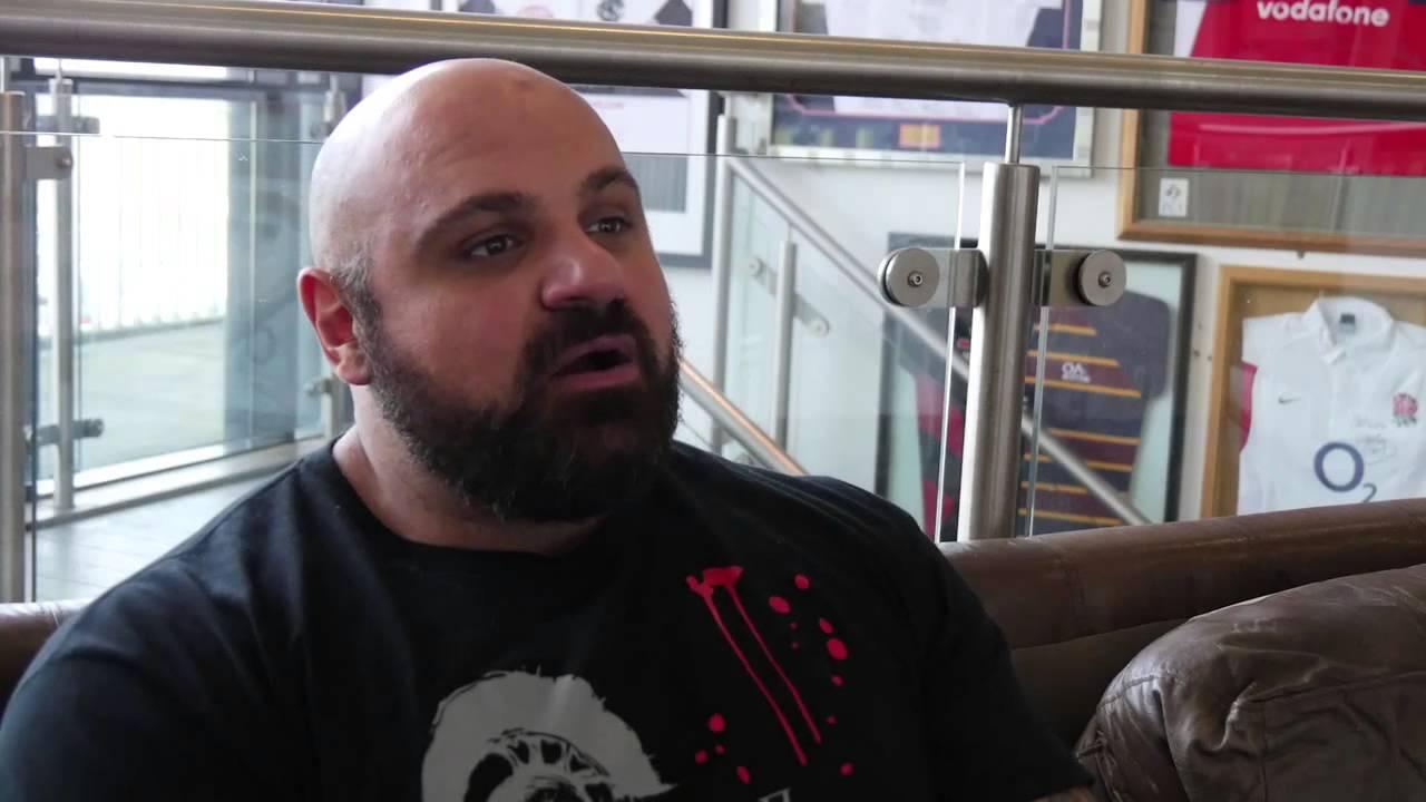 Strongman Laurence Shahlaei visits Saracens  YouTube