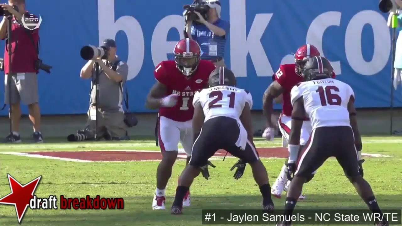 0e86c890a Jaylen Samuels (NC State WR TE) vs South Carolina 2017 - YouTube