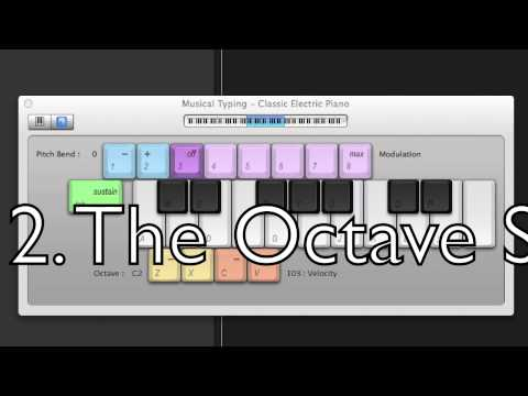 Jay's Garageband Tutorials- 2. Playing Some Notes with Musical Typing