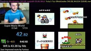 [42.20] Super Mario World Credits Warp WR