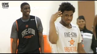 Corey Sanders Vs. Dwayne Bacon! 5 Star Basketball Camp (2013) Corey Hits Head On Backboard