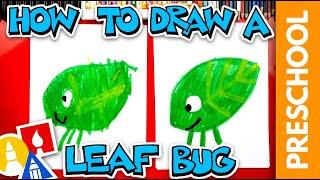 Drawing A Walking Leaf Using Shapes - Preschool