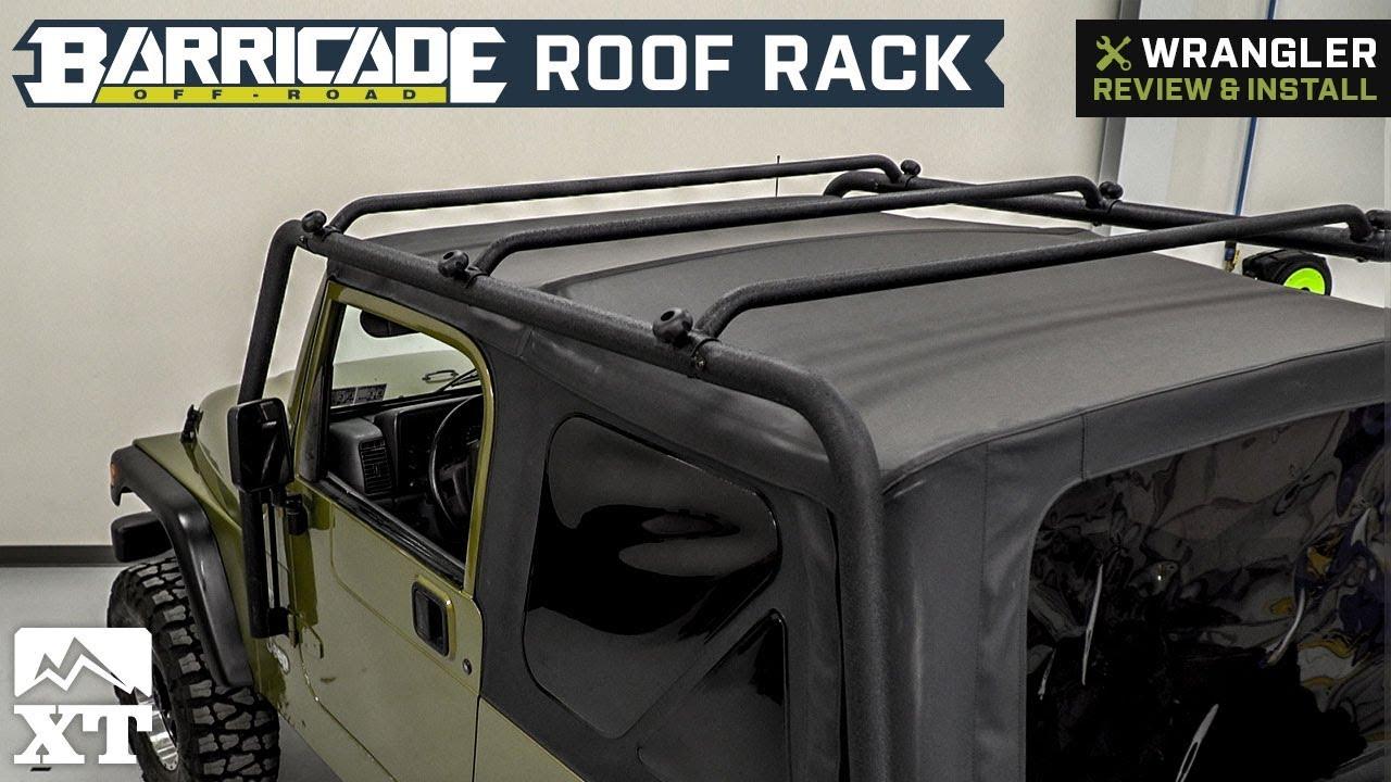 Jeep Wrangler Barricade Roof Rack Textured Black 1997 2006 Tj Install Hardtop Review