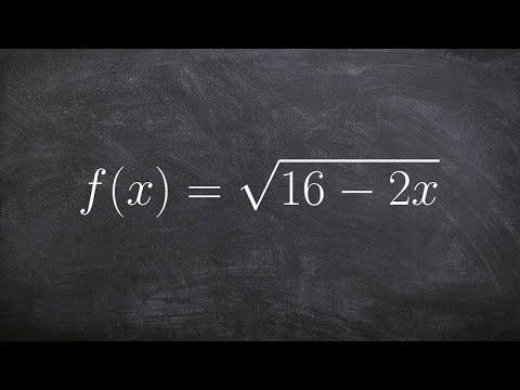 Find The Domain And Write In Interval Notation Of A Square Root Function