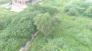 karimnagar police caught open drinkers with  the help of drone camera