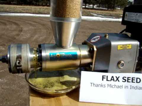 Flax Seed Oil Extraction Half Speed Youtube