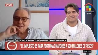 01-05-2020 — Carlos Heller en América TV — Informados de todo, con Guillermo Andino