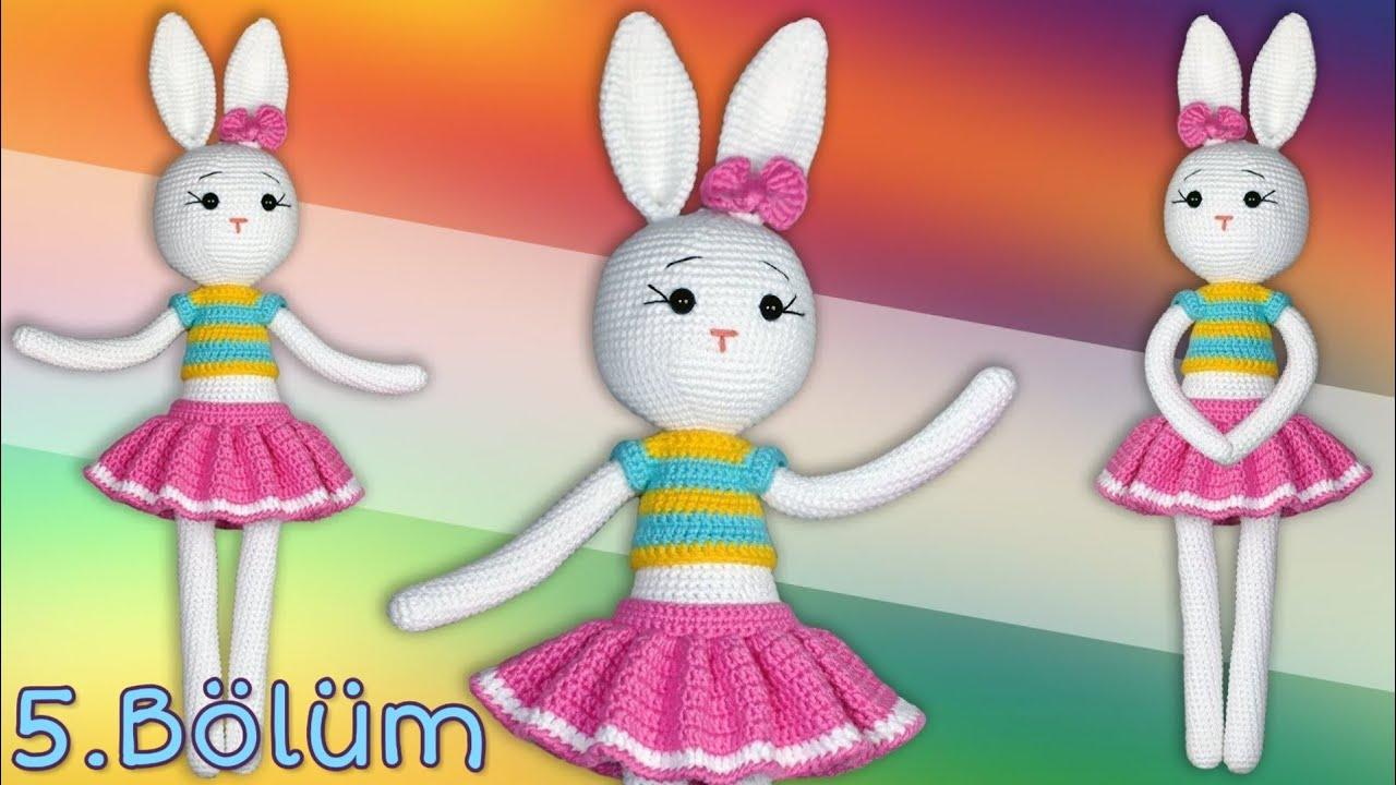 Amigurumi Örgü Kız Tavşan Yapımı / Kol, Bacak ve Gövde Yapılışı 1 ... | 720x1280