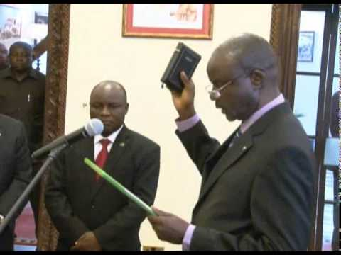 President Jakaya Kikwete swears in new Attorney General Mr George Mcheche Masaju