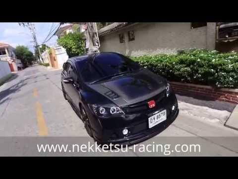 ชุดแต่ง Civic FD ทรง Mugen RR สีดำ จาก NEKKETSU racing.