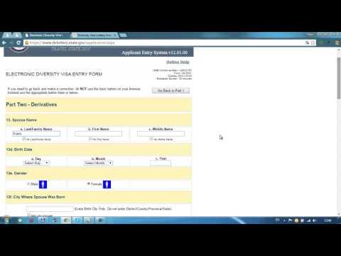 Правильное заполнение заявки на лотерею Green Card (Грин Кард) DV-2017. Заполняется в 2015 г. (№45)