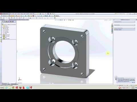 Homemade DIY CNC - From Start To Finish - Motor Mount Part 1 - Neo7CNC.com