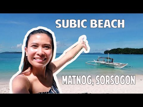 TRAVEL VLOG: WHERE TO GO IN MATNOG SORSOGON | SUBIC BEACH & JUAG LAGOON MARINE SANCTUARY