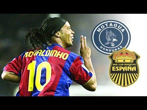 Ronaldinho│Jugando en Honduras │Partido Completo HD│Motagua vs Real España.