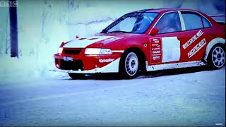 Rally Car Vs Bobsleigh | Ice Race | Top Gear | Series 5 | BBC